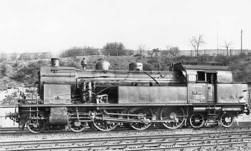 Die 78 289 (ex SAAR 8407) im Bw Neunkirchen (1936)Foto: Hermann Maey/Slg. Kademann-Brinker