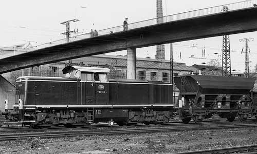 Die V 90 049 im Rangierdienst in Hagen-Vorhalle Güterbahnhof am 12. Oktober 1967 Foto: H. Schmidt/Slg. H.