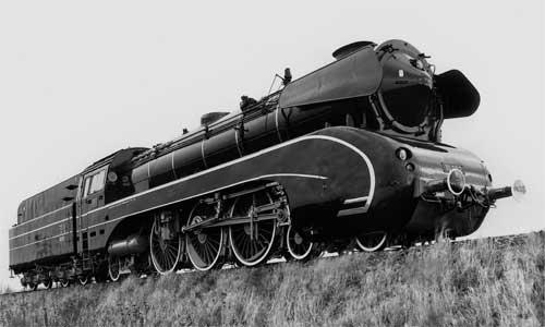 Die 10 002, aufgenommen bei einer Probefahrt in der Nähe von Minden am 25. November 1960 Foto: C.Bellingrodt/Slg. H. Brinker