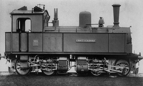 Hartmann baute 1891 (Fabriknummer 1659) die Lok CROTTENDORF. Diese Meyer-Bauart war entschieden kleiner als die ab 1910 gelieferte I TV und auch wenig erfolgreichSlg. Manfred Weisbrod